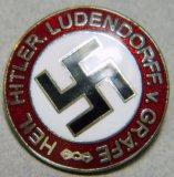 Heil Hitler Ludendorff v Grafe Party Member Badge, German WWII
