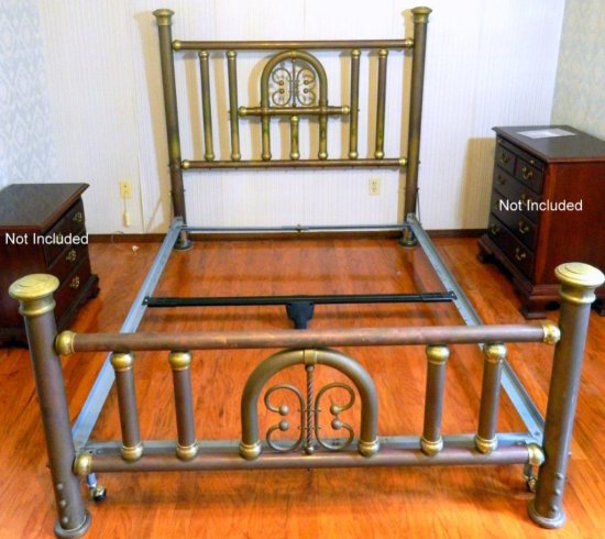 Vintage Queen Size Brass Bed