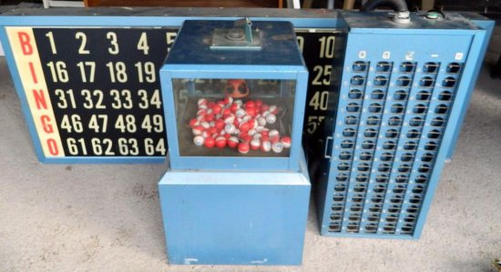 B-I-N-G-O! Bingo Flashboard with Machine Blower and Ball Sorter