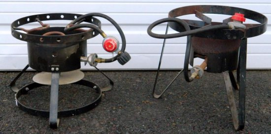Two Portable Outdoor Propane Burners