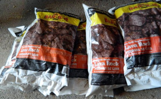 Eight 7lb. Bags of Mr. Bar-B-Q Lava Rocks