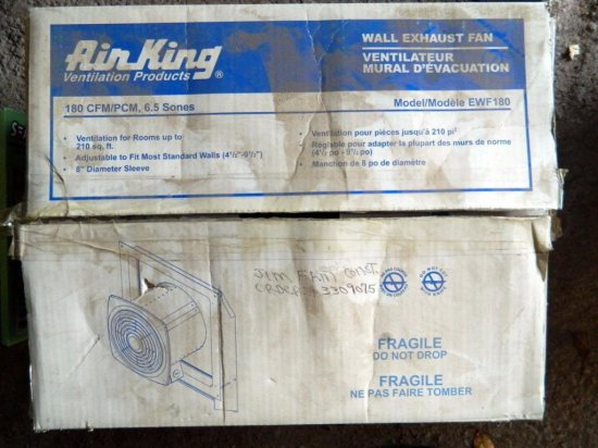 Air King Wall Exhaust Fan in Box