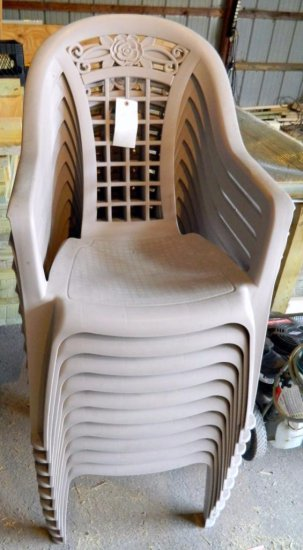 10 Ornate Plastic Chairs