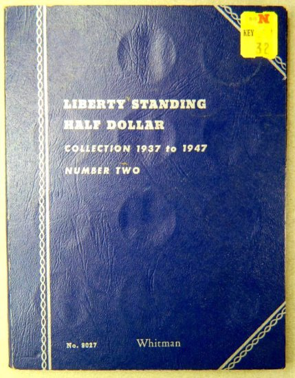 Liberty Standing Half Dollar Collection Folder 1937-1947