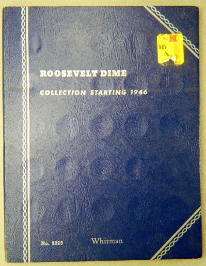 Roosevelt Dime Collection Folder, Starting 1946