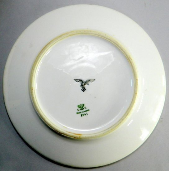 1941 WWII German Luftwaffe China Dinner Plate