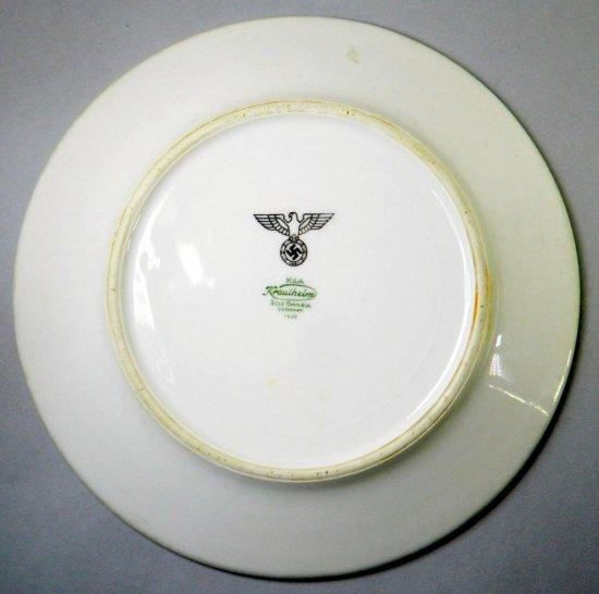 1938 Pre-WW2 Nazi Krautheim Porcelain Dinner Plate