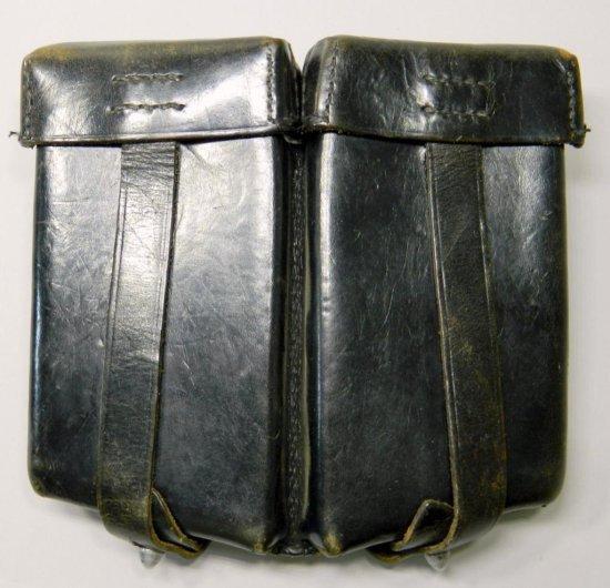 Waffen SS Machine Gun Leather Clip Pouch, German WWII