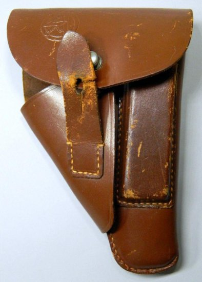 SA High Leader Walther PPK Pistol Leather Pistol Holster, German WWII