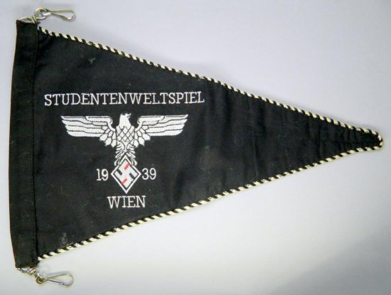 1939 Studentbund Officers Staff Car Pennant, German WWII