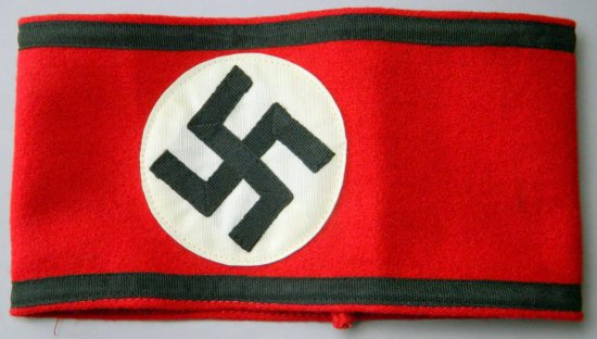 Waffen SS Swastika Overcoat Arm Band, German WWII