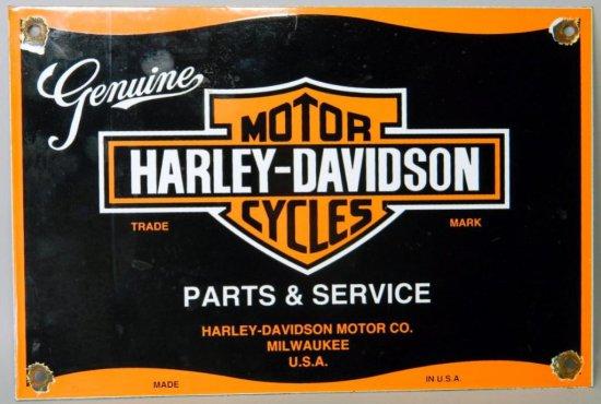 Vintage Harley Davidson Motor Cycles Porcelain Advertising Sign