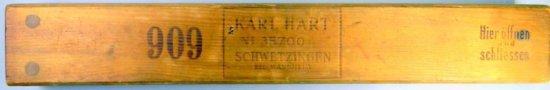 Karl Hart 909 Wooden Cigar Press
