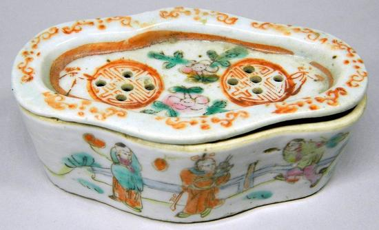 Chinese Porcelain Cricket Box, Tongzhi Period