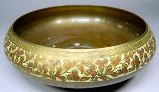 Detailed Brass Bowl, India