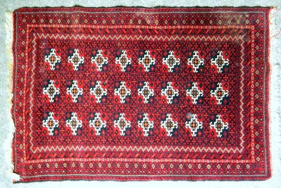 Red Persian Rug, Made in Iran