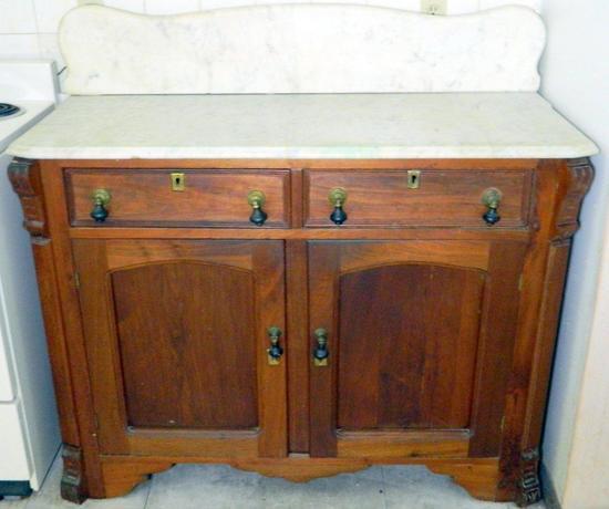 Antique Marble Top Side Server
