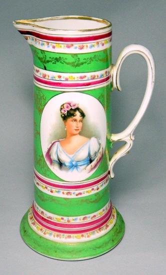 Antique Vienna Porcelain Transferware Pitcher