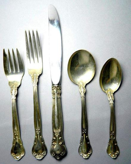 Chantilly by Gorham Mfg. Co., Sterling Silver Flatware Service Sets, 12 5-pc Sets
