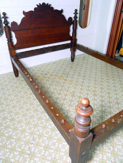 Antique Rope-and-Peg Suspension Bed, Full/Double Size
