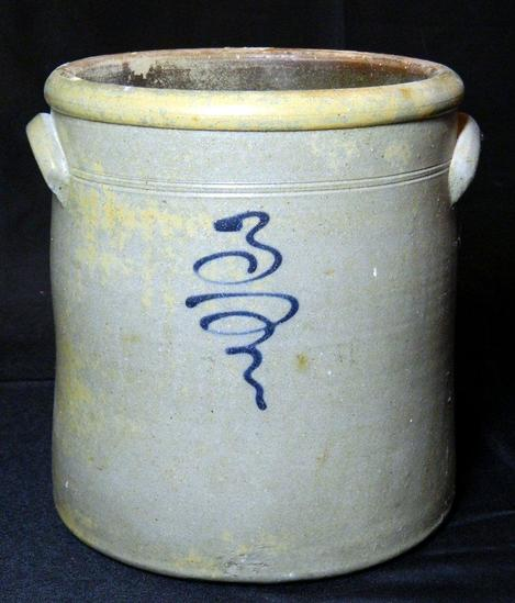 3 Gallon Salt Glaze Bee Sting Stoneware Crock