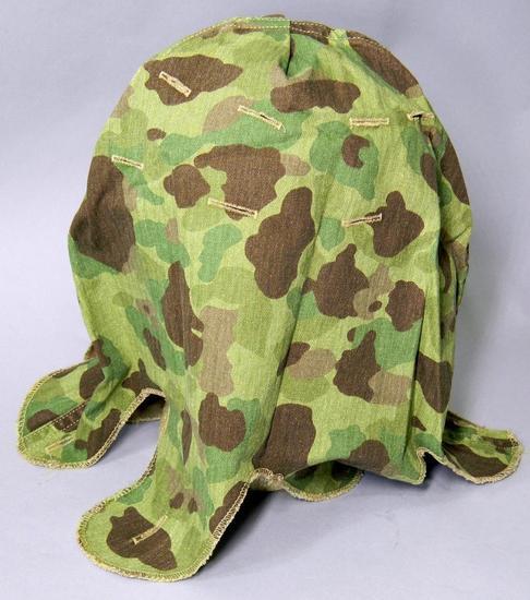 USMC WWII Marine Corps Camouflage Combat Helmet Cover