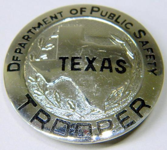 Obsolete Texas Department Of Public Safety Trooper Police Law Badge