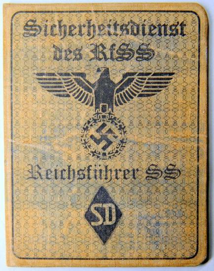 German Sicherheitsdienst des RFSS SD Soldier ID Booklet