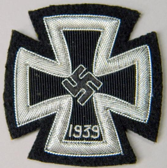 German 1st Class Iron Cross In Silver Bullion Wire
