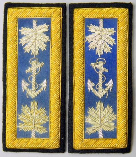Pair of US Civil War Union Naval Officers Shoulder Boards