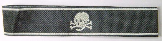 German Waffen Elite TOTENKOPF EM Cuff Title