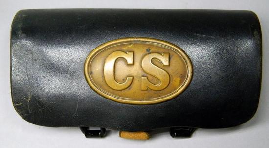 Confederate States Civil War CS Leather Cartridge Box