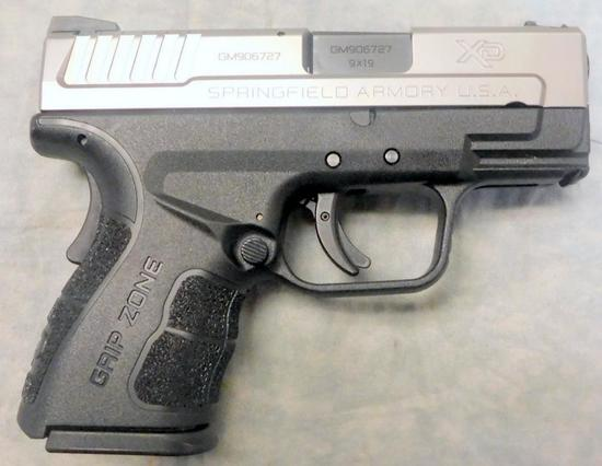 Springfield XD Model 2 Subcompact 9mm Semi-auto Pistol, Excellent