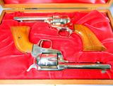 Colt Frontier Scout .22 Cal Revolvers Pair, Sequential Serial Numbers, Wooden Display Case