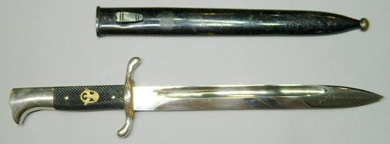 Fire Police Polizei Dress Bayonet and Scabbard, German WWII