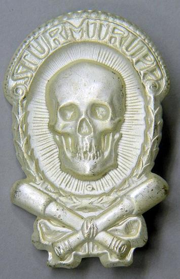 Sturmtrupp Skull Breast Badge, German WWII