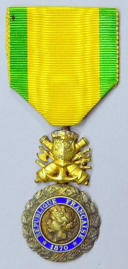 French 1870 Franco Prussian War Medaille Militaire Valor Medal