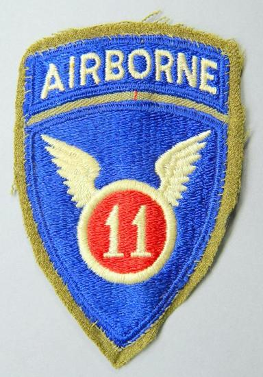 US WWII Army 11th Airborne Paratrooper Shoulder Patch