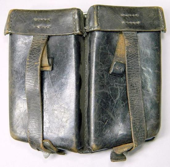 Waffen SS Leather Machine Gun Clip Pouch, German WWII