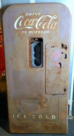 Vintage Coca-Cola Bottle Soda Machine Door