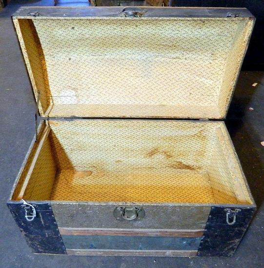 Antique Domed Steamer Trunk