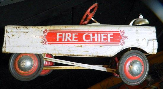 White Fire Chief Pedal Car