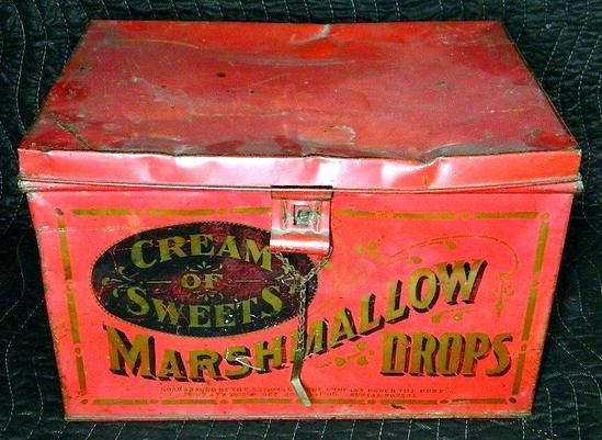 Cream of Sweets Marshmallow Drops Tin Box