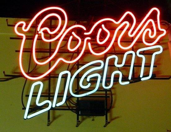 Coors Light Neon Bar Light