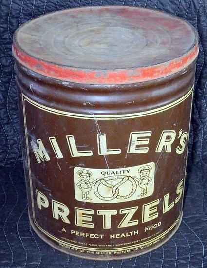 Miller's Pretzels Lidded Tin