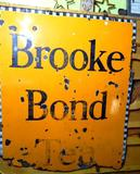 Sought After Food and Drink Antique Enamel Sign, Brooke Bond Tea
