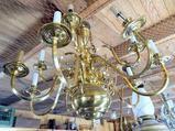Brass Colored Hanging Chandelier