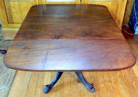 Double Drop-leaf Table with Highly Detailed Claw Feet
