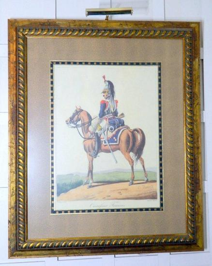 Framed Art Print Cuirassier Francais