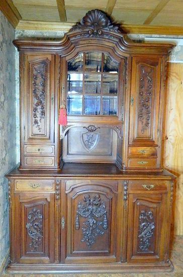 Henri II French Style Buffet a Deux Corps